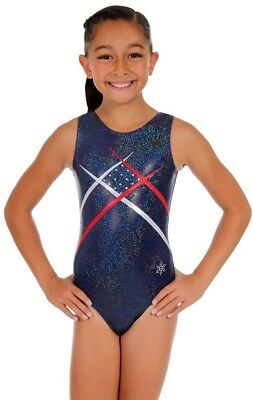 (Adult Medium (gymnastics sizing), Navy) - Unity Gymnastics Tank Leotard -