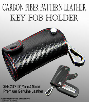 2 Carbon Fiber Pattern Car Remote Key Chain Holder For Infiniti Lexus Mazda H8