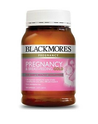 Blackmores Pregnancy and Breastfeeding Gold 180 Capsules -  Australian Made