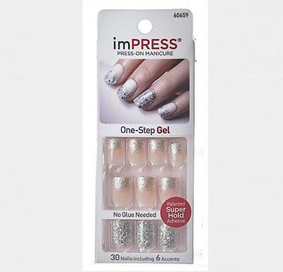 imPRESS Nails ONE SHINE DAY Künstliche Fingernägel Press-On Kiss/Broadway