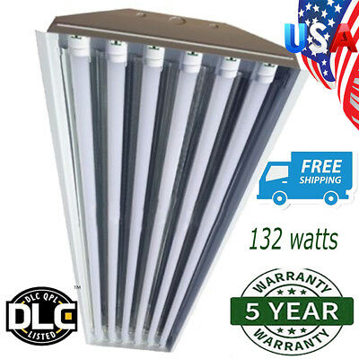 6 Bulb / Lamp T8 LED High Bay Warehouse, Shop, Commercial Light Fixture NEW EC