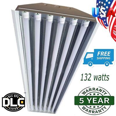 6 Bulb / Lamp T8 LED High Bay Warehouse, Shop, Commercial Light Fixture NEW KG