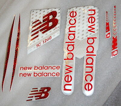2018 NEW BALANCE RED 1260 Cricket bat Stickers  - 1 FULL SET for 1 Full Size Bat