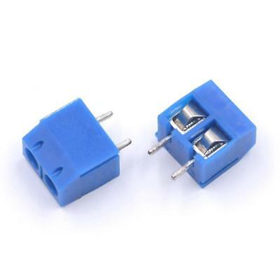 20pcs KF301-2P 5.08mm Pitch 2pin Plug-in Blue Screw Terminal Block Connec LL22