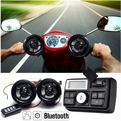 Motorcycle Audio System FM Radio Stereo Amplifier Speaker MP3 Anti-theft Alarm T