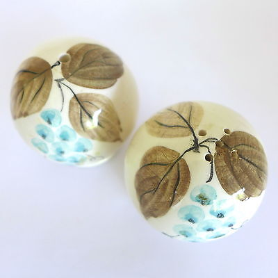 Vintage 1950s Australian JUNE DYSON STUDIO Pottery Salt & Pepper Shakers GRAPES
