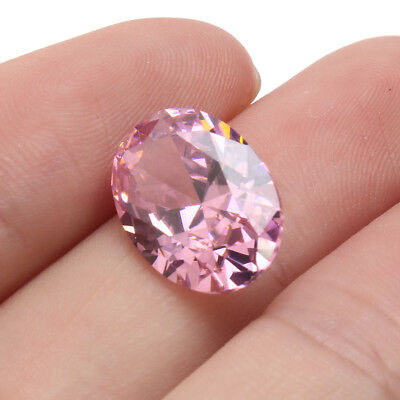AAA Pale Pink Red Gems Oval Faceted Cut 4.26ct VVS Loose Gemstone 5 Sizes