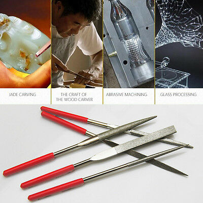 5 Piece Diamond Needle File Model Making Tool Kit Set Portable Crafts Pro 77YT