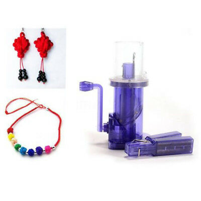 1 PC i-Cord Maker Knit Machine Spool Knitter Wool Winder DIY Rope Braiding Kit
