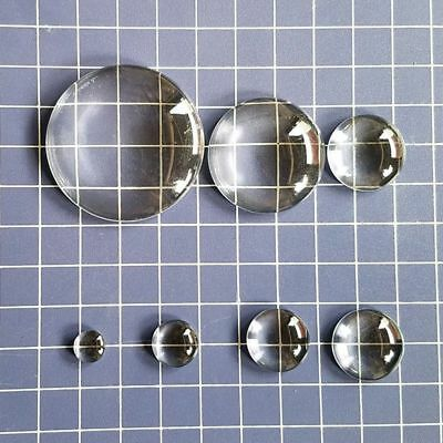 Clear Necklace Charm Flat Round Time Gem DIY Glass Cabochon For Jewelry Making