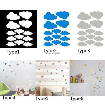 Cloud/ Star Wall Stickers Children Bedroom Nursery Wall Decal Home C1MY