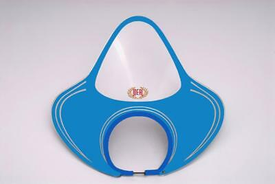 IDEAL FLYSCREEN by ROYALE VESPA GS VBA VBB & OTHER 130mm HEADSETS CLEAR BLUE