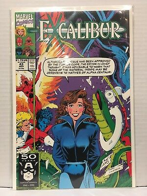 Excalibur #43 NM- 1st Print Marvel Comics