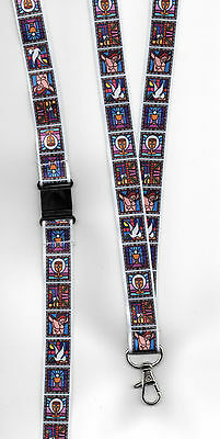 1 x Stained Glass Easter Christian Breakaway Safety Strap Lanyard: FREE UK P&P