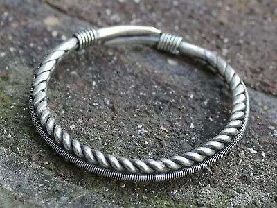 Handmade ethnic miao silver bangle Bohemian Tribal jewellery Gift for her or him