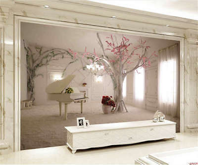 Ripe Cardinal Tree 3D Full Wall Mural Photo Wallpaper Printing Home Kids Decor