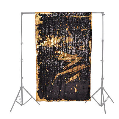 PIXAPRO Creative Glamorous Sequin Backdrops 2.6X4M Black and Gold