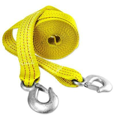 "Capri Tools CTW2-20 2"" x 20' Heavy Duty 10,000 lb Pound Tow Strap with Hooks"