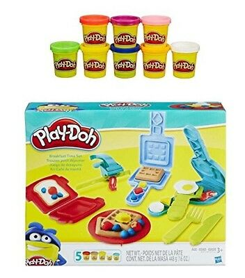 Play-Doh Breakfast Time Playset + Play-Doh Rainbow Starter Pack Bundle. PD