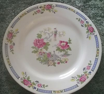 """BCM Nelson ware pre-1950s 10"""" plate in oriental design with phoenix & peonies"""
