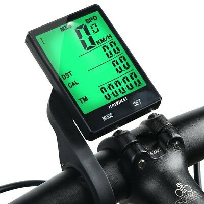 (Green Light with Extension Mount) - INBIKE Wireless Bike Computer, Multi
