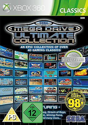 Xbox 360 Sega Mega Drive Ultimate Collection 40 Classic Games Nip
