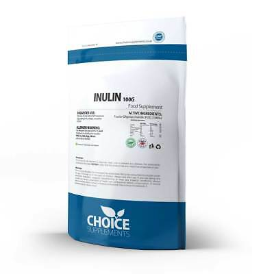 Inulin (FOS) Powder Prebiotic Vegetarian and Vegan Soluble Fibre + Binding Agent