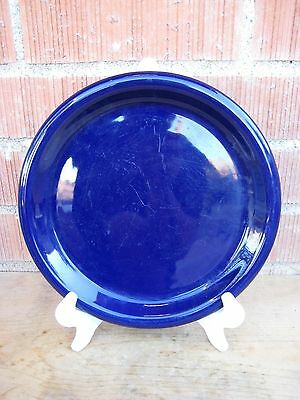 "Vintage Cobalt Blue ***CROWN CORNING***  Stoneware 9"" Luncheon Plate JAPAN"