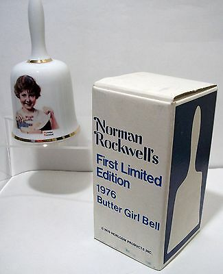 Norman Rockwell~1976-The Butter Girl-1st Limited Edition Collectors Bell ~In Box