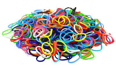 600 x Elastic Rubber Bands ~ Assorted Colour ~Length 2cm Open to 15cm UK Stock