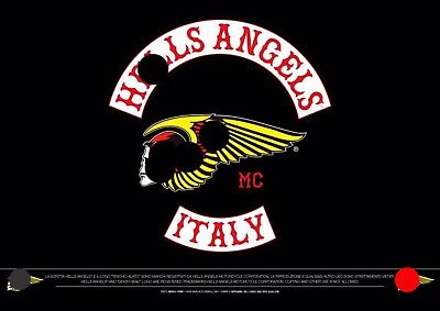 Hells Angels Italy calendario Calendar 2018 support 81 big red machine Big Size