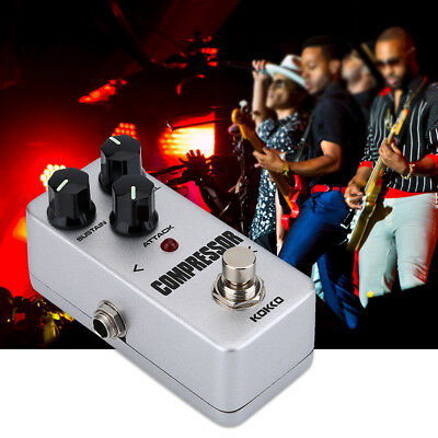 KOKKO FCP2 Electric Guitar Compressor Sustainer Mini Effect Pedal AC Adapter