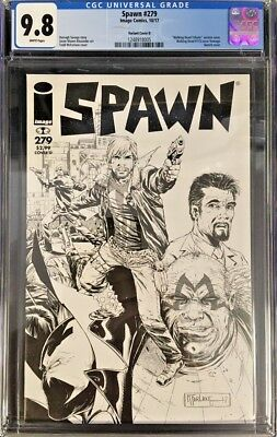 Spawn #279 CGC 9.8 Todd McFarlane Walking Dead #115 Tribute Sketch Homage Cover!