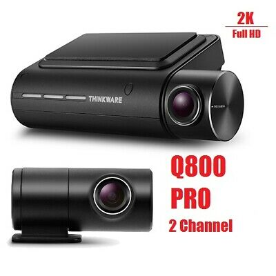 NEW Thinkware Q800 PRO 2CH Hardwire Dash Cam 2K HD WIFI GPS Front & Rear Cameras