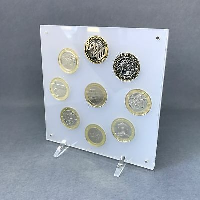 Perspex Coin Display - 50p, £1 and £2 - ideal for proof or silver proof