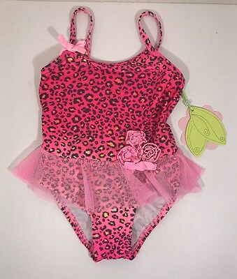 Hula Star Animal Print One Piece Swimsuit Toddler Size 2T NWT