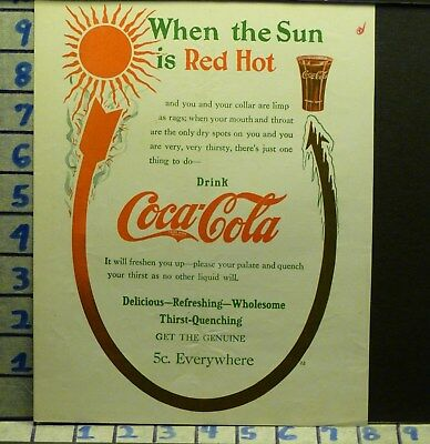 1908 Coca Cola Coke Arrow Fountain Drink Sun Beverage Soda Pop Vintage Ad  V13