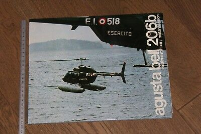(192) Brochure hélicoptère Aircraft Helicopter Agusta Bell 206b military