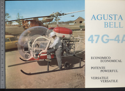 (192) Brochure hélicoptère Aircraft Helicopter Agusta Bell 47G-4A