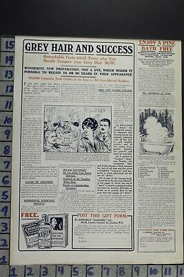 1916 Health Beauty Edwards Hair Care Bathtub Bathroom Decor Vintage Ad Dz070