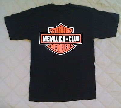 Vintage Original 1996 METALLICA CLUB Harley Davidson Spoof Black T-shirt Large