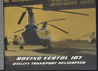 (192) Brochure hélicoptère Aircraft Helicopter BOEING VERTOL 107