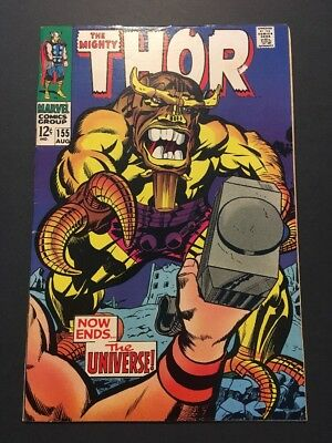 Thor #155 (Aug 1968, Marvel) CLASSIC VILLAIN COVER * MARVEL HERO