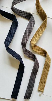 15MM 100% cotton canvas webbing bag making belting sewing fabric strap Trimming