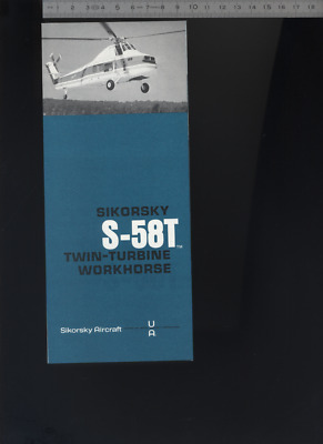 (192) Brochure hélicoptère Aircraft Helicopter Sikorsky S-58T