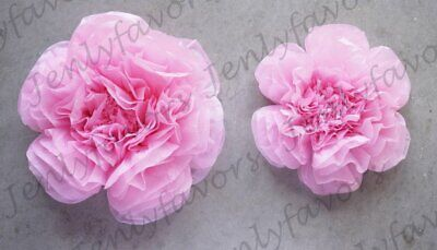 "12"" & 16"" Scallop Shaped Tissue Backdrop Flowers for Beautiful Room Wall Decorat"