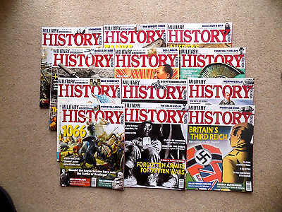 12 x Military History Magazines Issues 70 - 81 July 2016 through to June 2017