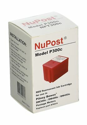 NuPost NPT300C Compatible Red Ink Cartridge Replacement for Pitney Bowes Post...