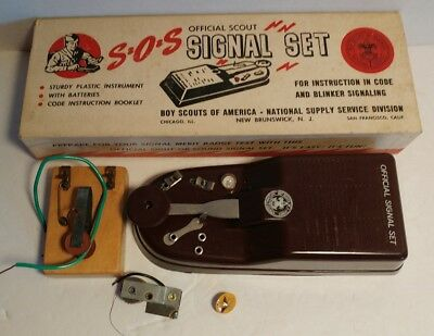 S.O.S. vintage Boy Scout signal set - prepare for merit badge