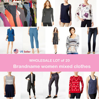Wholesale Lot of 20 Brandname women mixed clothes US Seller